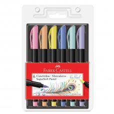 Caneta Faber Castell Supersoft Brush Pastel C/6