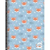 Caderno Universitário Capa Dura 16 Matérias 256 Folhas Pepper Feminino 1A