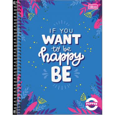 Caderno Universitário Capa Dura 20 Matérias 320 Folhas Pepper Feminino 1B
