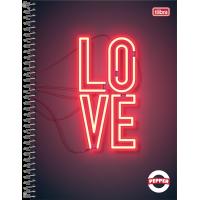 Caderno Universitário Capa Dura 12 Matérias 192 Folhas Pepper Feminino 1C