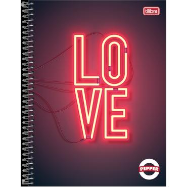 Caderno Universitário Capa Dura 10 Matérias 160 Folhas Pepper Feminino 1C