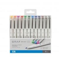 Caneta Cis Graf Brush Fine C/12