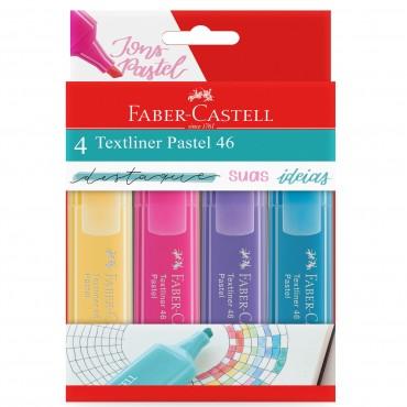 Marca Texto Faber Castell 46 Pastel C/4 Cores