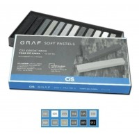 Giz Pastel Seco Graf Soft Cis Tons de Cinza - C/12 Cores