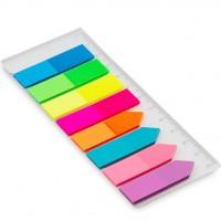Marcador de Pagina Adesivo Flags Sortidos 45x12mm C/8 Cores Maxprint 200F
