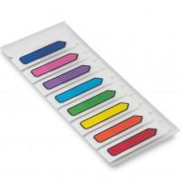 Marcador de Pagina Adesivo Flags Seta 45x12mm C/8 Cores Maxprint