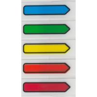Marcador de Pagina Adesivo Flags Seta 45x12mm C/5 Cores Maxprint 100F