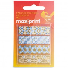 Marcador de Pagina Adesivo Flags Decor 406 45x12mm Maxprint C/80
