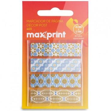 Marcador de Pagina Adesivo Flags Decor 406 45x12mm Maxprint C/80