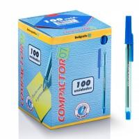 Caneta Esferográfica Compactor 07 Azul C/100