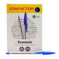 Caneta Compactor Economic Azul C/100