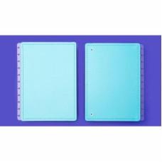 Capa e Contracapa Caderno Inteligente Grande Azul Celeste