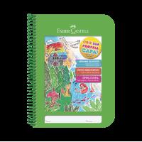 Caderno Faber Castell Criativo Verde