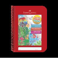 Caderno Faber Castell Criativo Vermelho