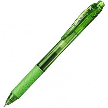 Caneta Pentel Energel Retratil 0.5 Verde Limão BLN105-K