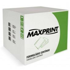 Formulário Contínuo 80 Colunas 1 Via Branco Maxprint C/2500F