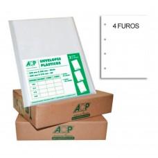 Envelope Saco Plástico Oficio 4 Furos (0.06) Fino