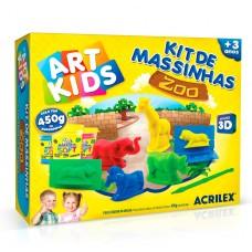 Massa de Modelar Acrilex Soft 450G - Kit Zoo