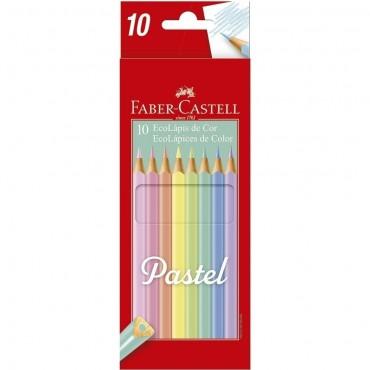 Lápis de Cor Faber Castell Tons Pastel C/10 Cores