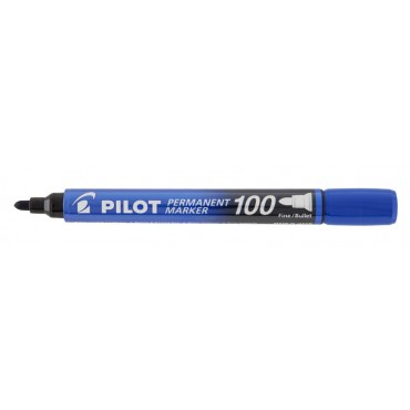 Marcador Permanente Pincel Atômico Pilot Marker 100 Azul