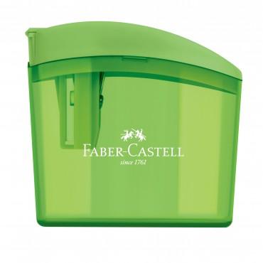 Apontador c/ Deposito Faber Castell Clickbox Verde