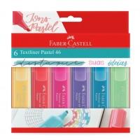 Marca Texto Faber Castell 46 Pastel C/6 Cores MT/15466