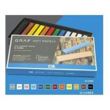 Giz Pastel Seco Graf Soft Cis - C/12 Cores