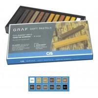 Giz Pastel Seco Graf Soft Cis Tons de Marrom - C/12 Cores
