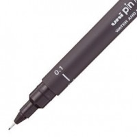 Caneta Uni Pin 0.1 Cinza Escuro