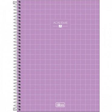 Caderno Universitário Capa Dura 01 Matéria 80 Folhas Académie