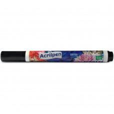 Caneta para Tecido Acrilpen Acrilex - Preta