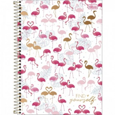 Caderno Universitário Capa Dura 16 Matérias 256 Folhas Aloha D