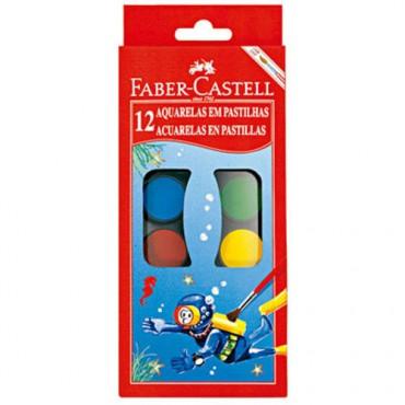 Aquarela Faber Castell C/12 Cores