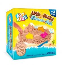 Areia Mágica Acrilex - Kit Brincando na Praia 400G