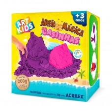 Areia Mágica Acrilex - Kit Casinhas 200G
