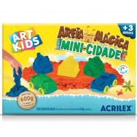 Areia Mágica Acrilex - Kit Mini Cidade 600G