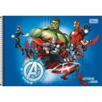 Caderno Desenho Espiral Capa Dura Avengers 80 Folhas A