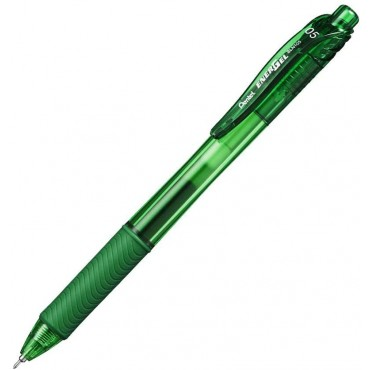 Caneta Pentel Energel Retratil 0.5 Verde BLN105-D