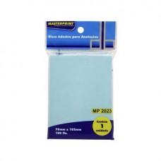 Bloco Adesivo 76x102 Azul C/100F MP2023