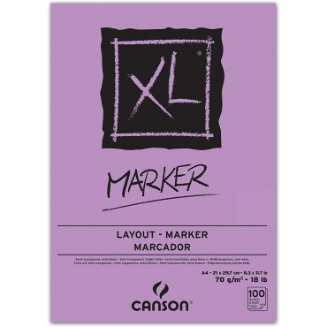 Bloco Canson XL Marker Layout A4 70g/m² 100 folhas
