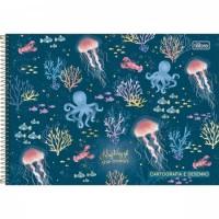 Caderno Desenho Espiral Capa Dura Bubble 80 Folhas A