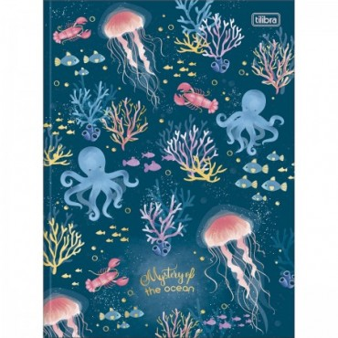 Caderno Brochura Capa Dura Universitário Bubble 80F B