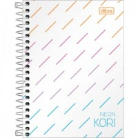 Caderneta Espiral Capa Plástica 1/8 Sem Pauta Neon Kori 80F