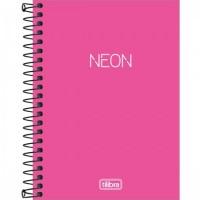 Caderneta Espiral Capa Plástica 1/8 Sem Pauta Pink Coral 80F