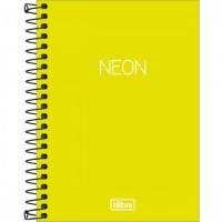 Caderneta Espiral Capa Plástica 1/8 Sem Pauta Neon Verde Limao 80F