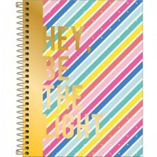Caderno Colegial Capa Dura 10 Matérias 160 Folhas Be Nice C