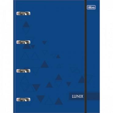 Fichario Caderno Argolado Cartonado Tilibra Lunix Azul