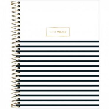 Caderno Colegial Capa Dura 10 Matérias 160 Folhas West Village B