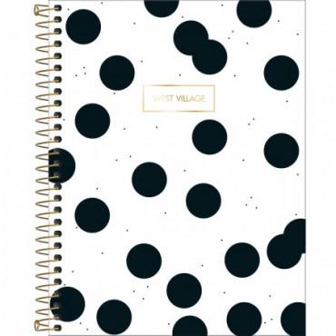 Caderno Colegial Capa Dura 10 Matérias 160 Folhas West Village D