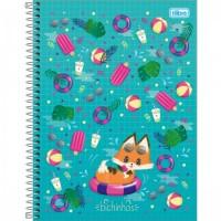 Caderno Universitário Capa Dura 10 Matérias 160 Folhas Bichinhos